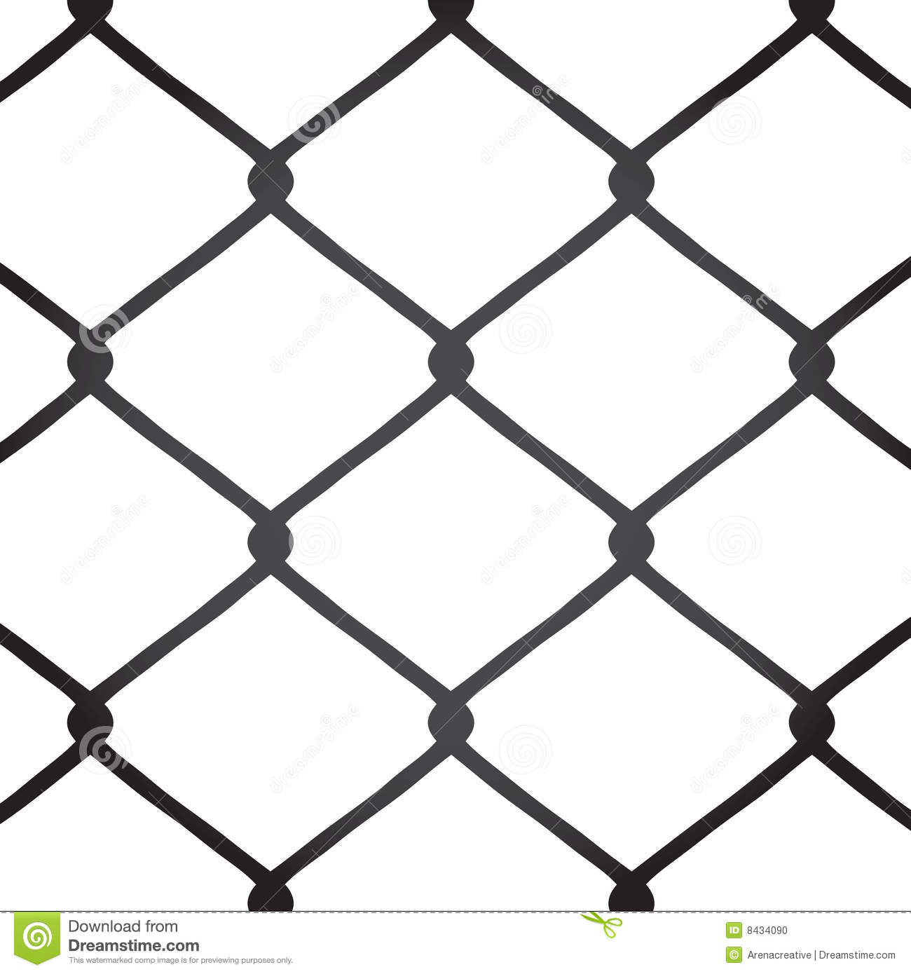 Chain Link Fence Vector Stock Vector Illustration Of