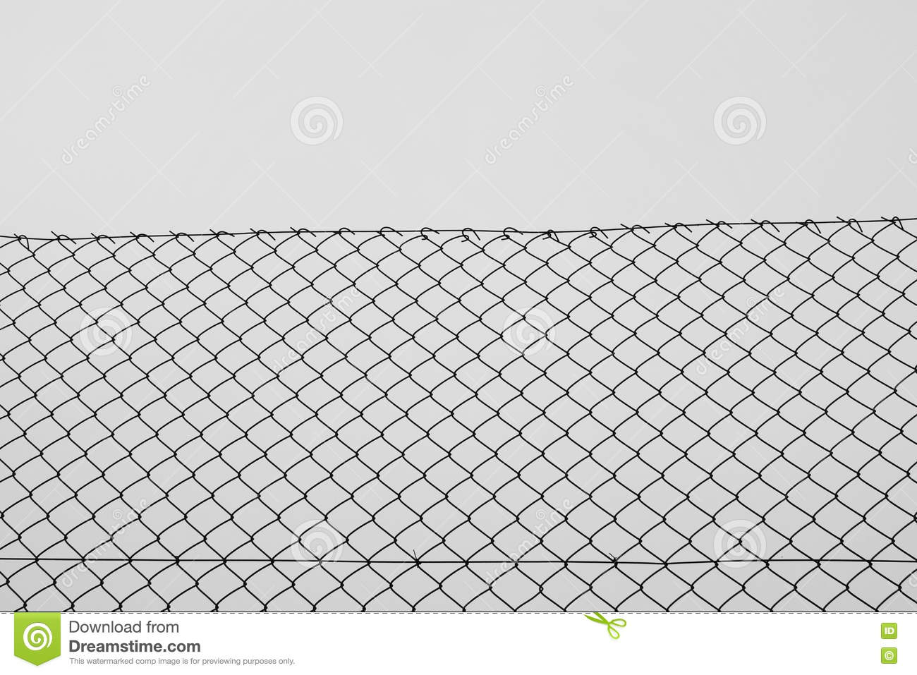 Chain Link Fence Wire Netting Stock Photo