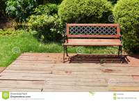 Chair On Wooden Deck Wood Outdoor Patio Backyard Garden ...