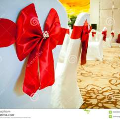 Chair Covers With Pink Bows 6 Dining Tables Cover Red Bow Stock Image Cartoondealer
