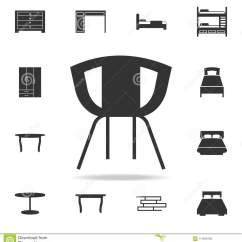Chair Design Icons Diy Cushion No Sew Icon Detailed Set Of Furniture Premium Quality Graphic One The Collection For Websites Web Mobile App On White