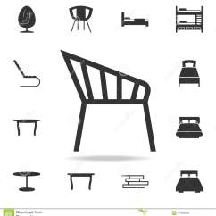 Chair Design Icons White Desk For Kids Icon Detailed Set Of Furniture Premium Quality Graphic One The Collection Websites Web Mobile App On