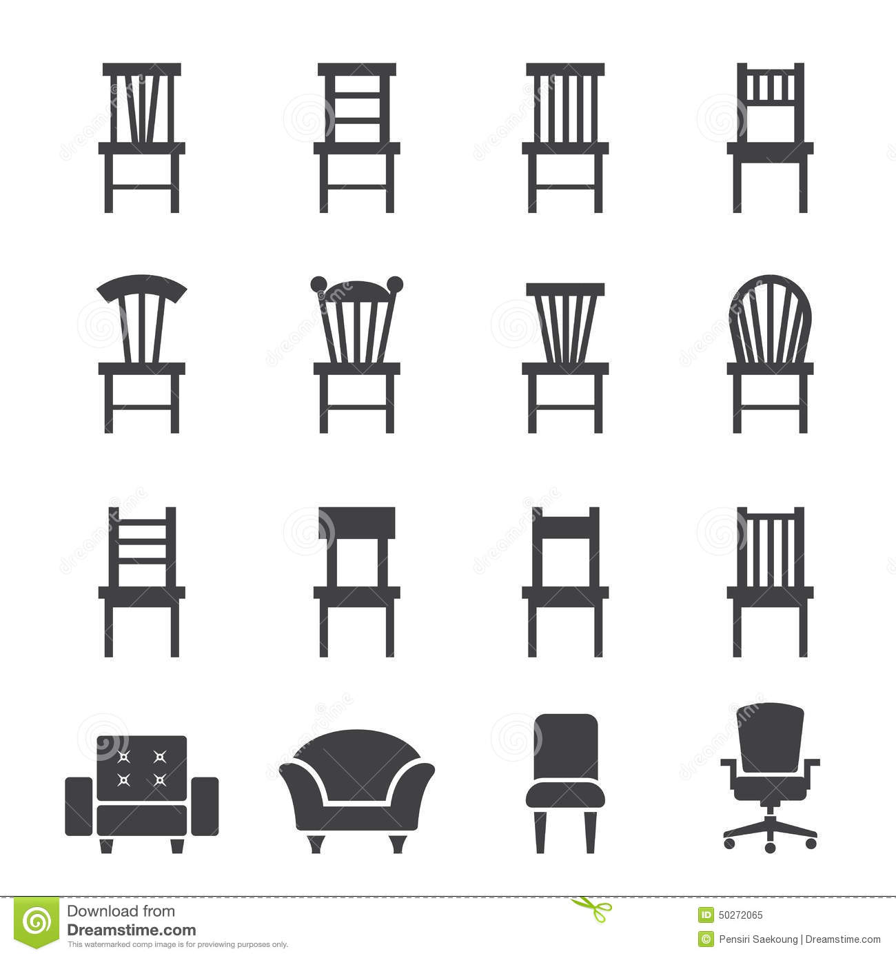chair design icons posture meaning icon stock vector image of object chaise lounge