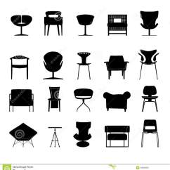 Office Chair Vector Floor Mat Icons Set Great For Any Use Eps10 Stock