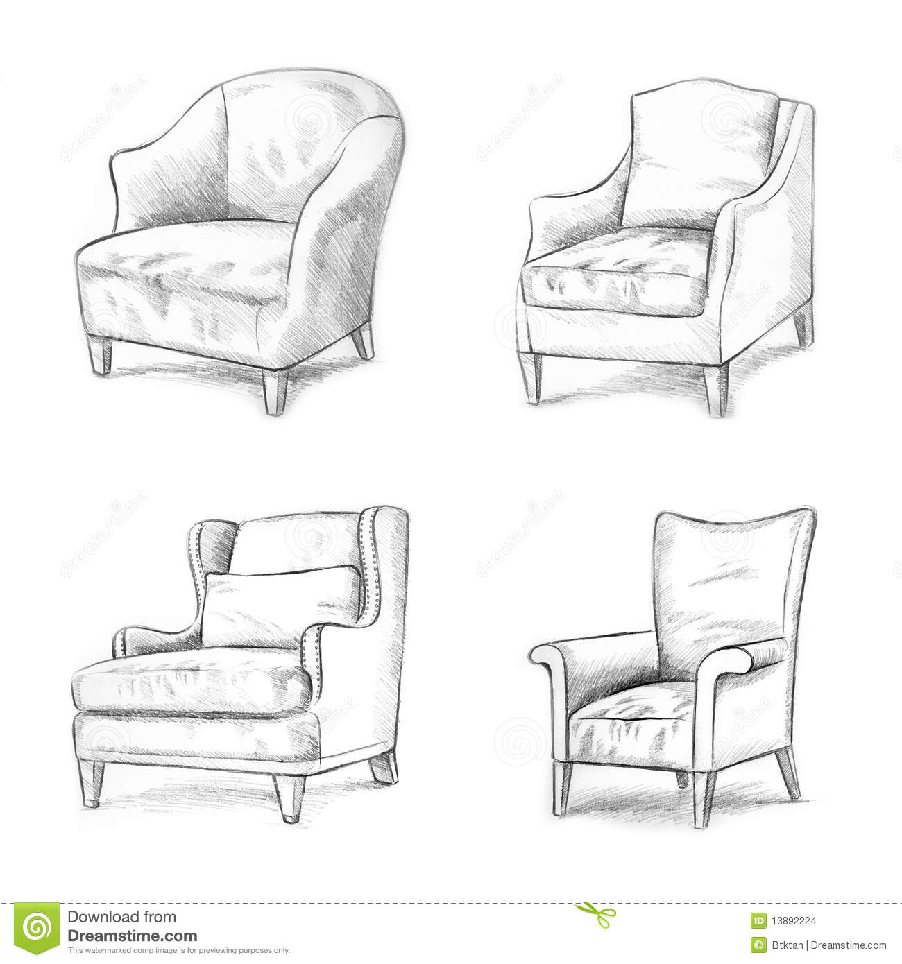 chair design styles lifetime parts sketching stock illustration image of sketch