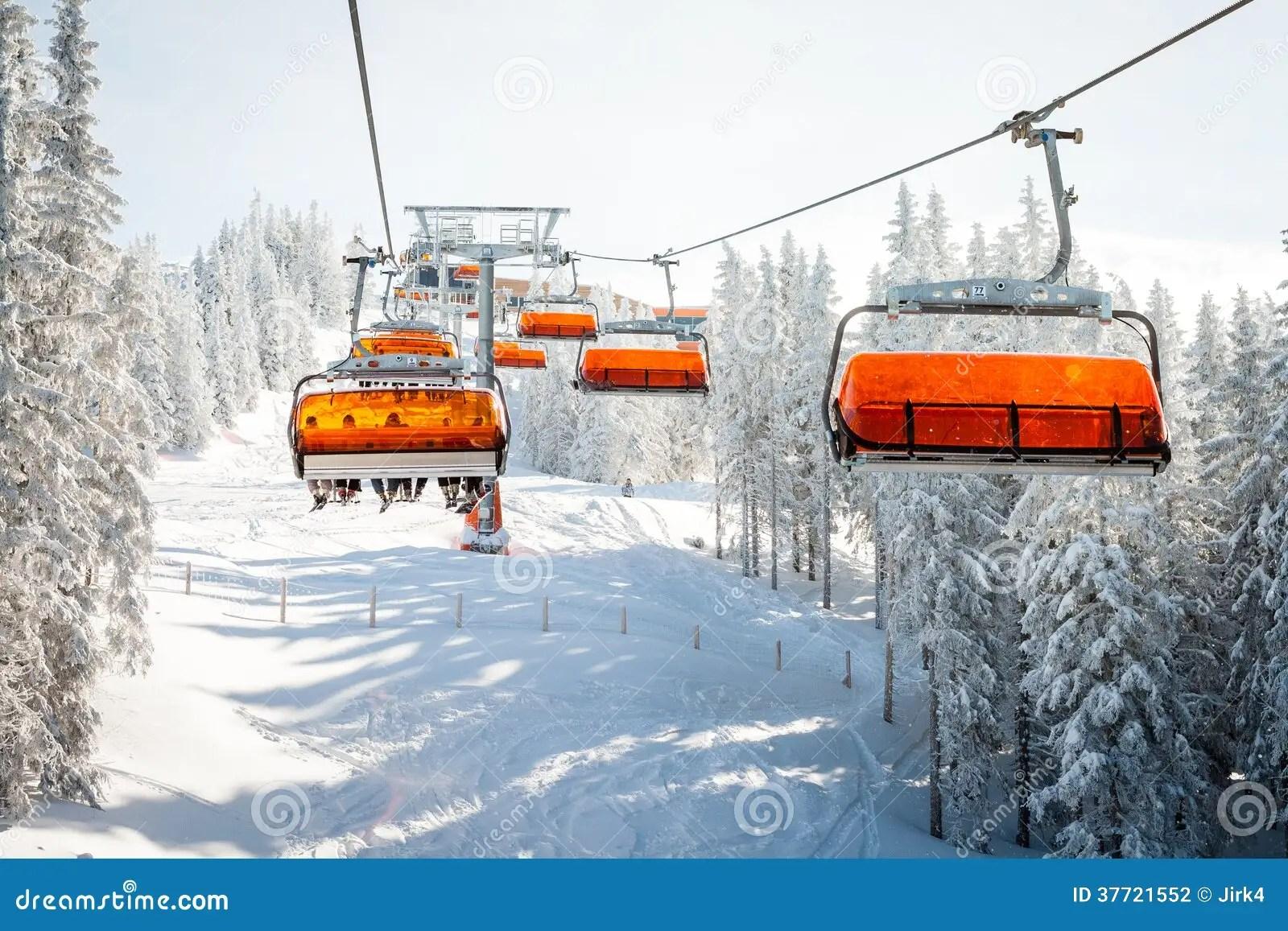 buy ski lift chair office orange stock photo cartoondealer 86132682
