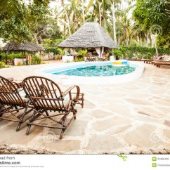 What Are Pool Chairs Made Out Of Skull Adirondack On Swimming Border Stock Image