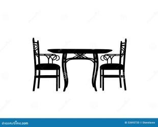 Table Restaurant Silhouette