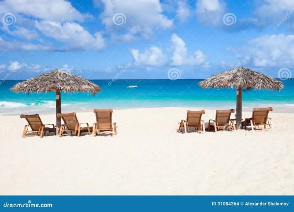Tropical Beach Chair and Umbrella