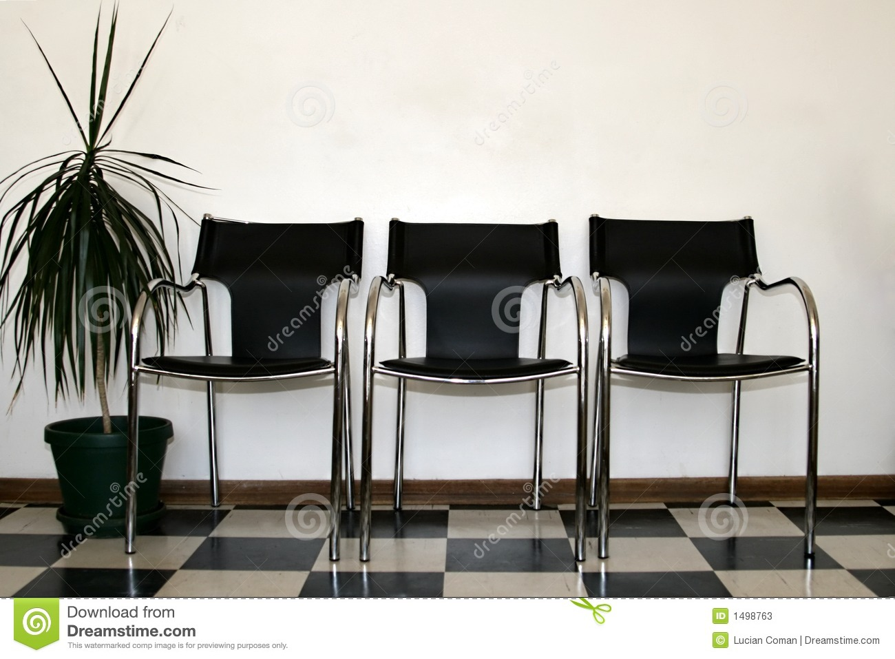 Chairs waiting room stock image Image of polished rest