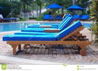 Chaise Lounge Chairs By The Pool Stock Image - Image of ...