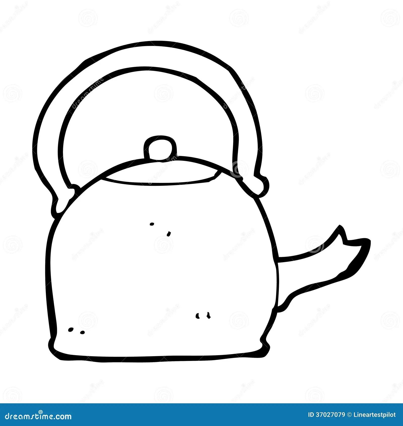 Chaleira Velha Dos Desenhos Animados Imagens De Stock