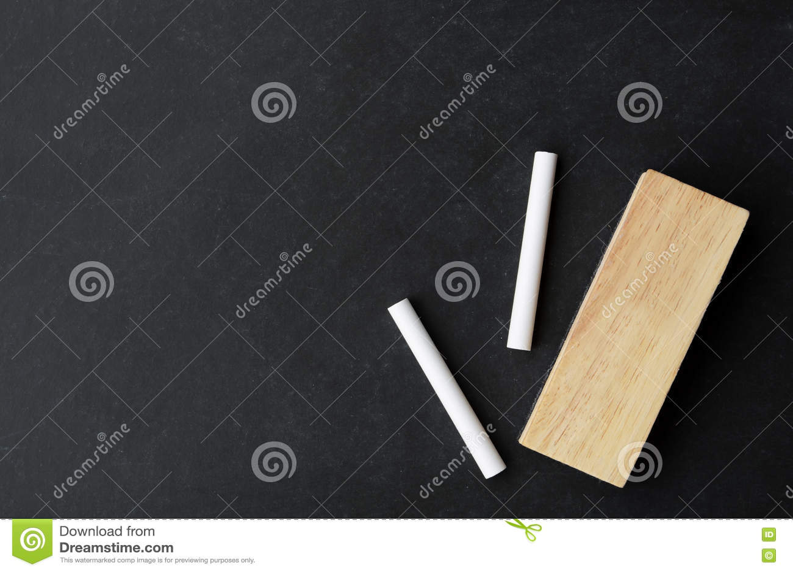 chalk and eraser on