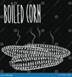chalkboard boiled steamed corn ears [ 1300 x 1390 Pixel ]