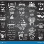 Chalkboard Menu For Cafe Or Restaurant Coffee Fruit Menu Burgers Cold Beer Breakfast And Dinner Menu Fresh Juice Snacks Stock Vector Illustration Of Drinks Fast 152923817