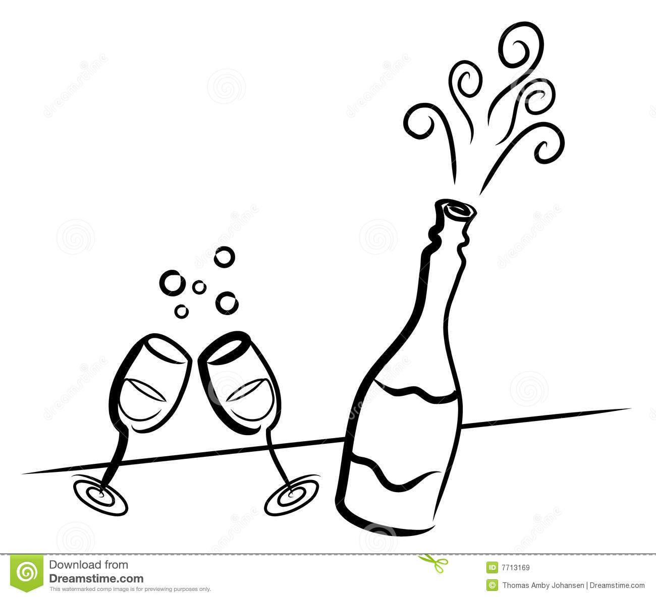 Champagne Stock Vector Illustration Of Celebration