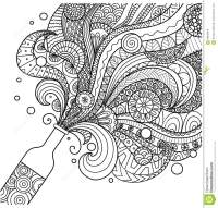 Champagne Bottle Line Art Design For Coloring Book For ...