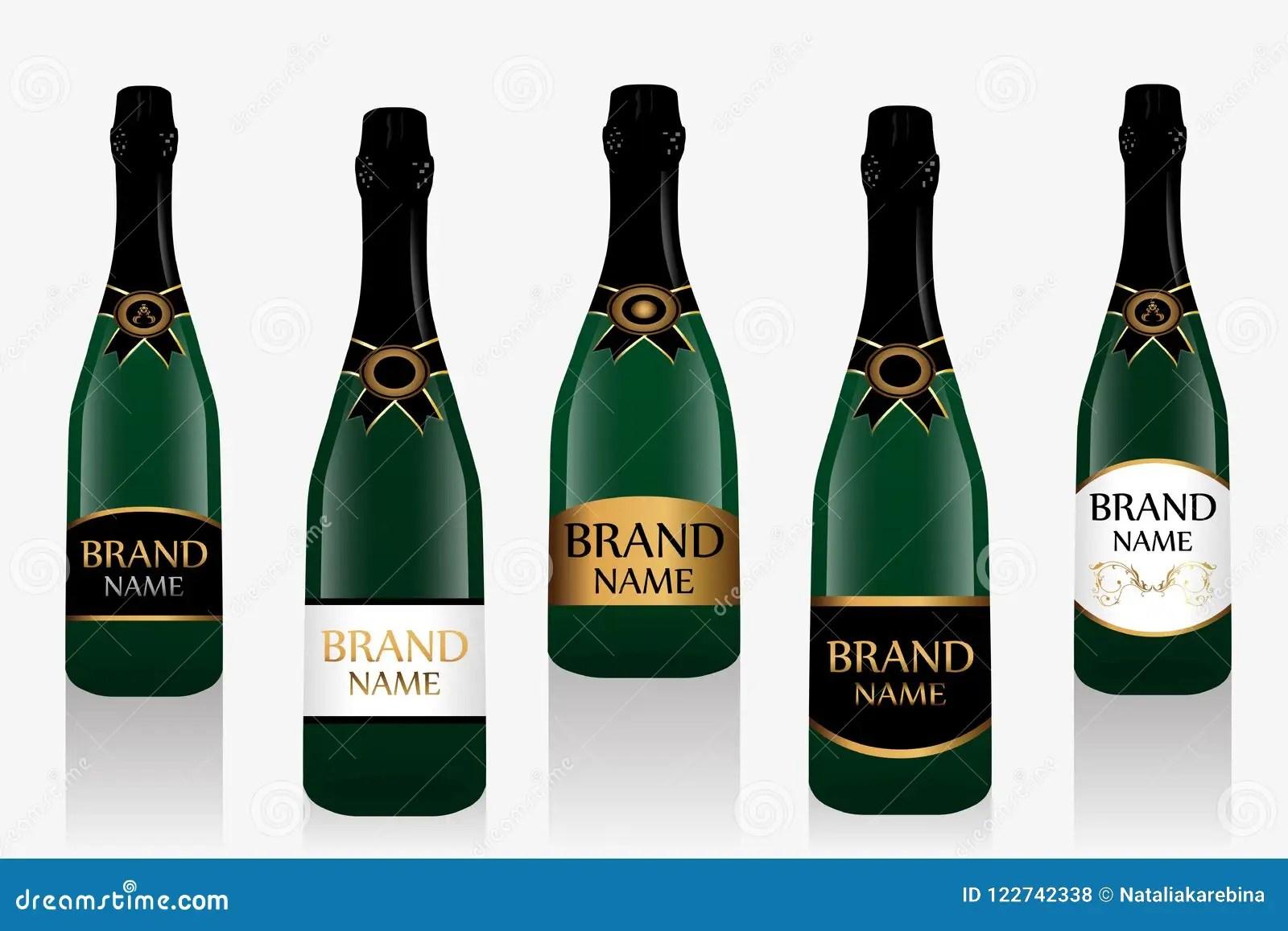 champagne bottle or sparkling