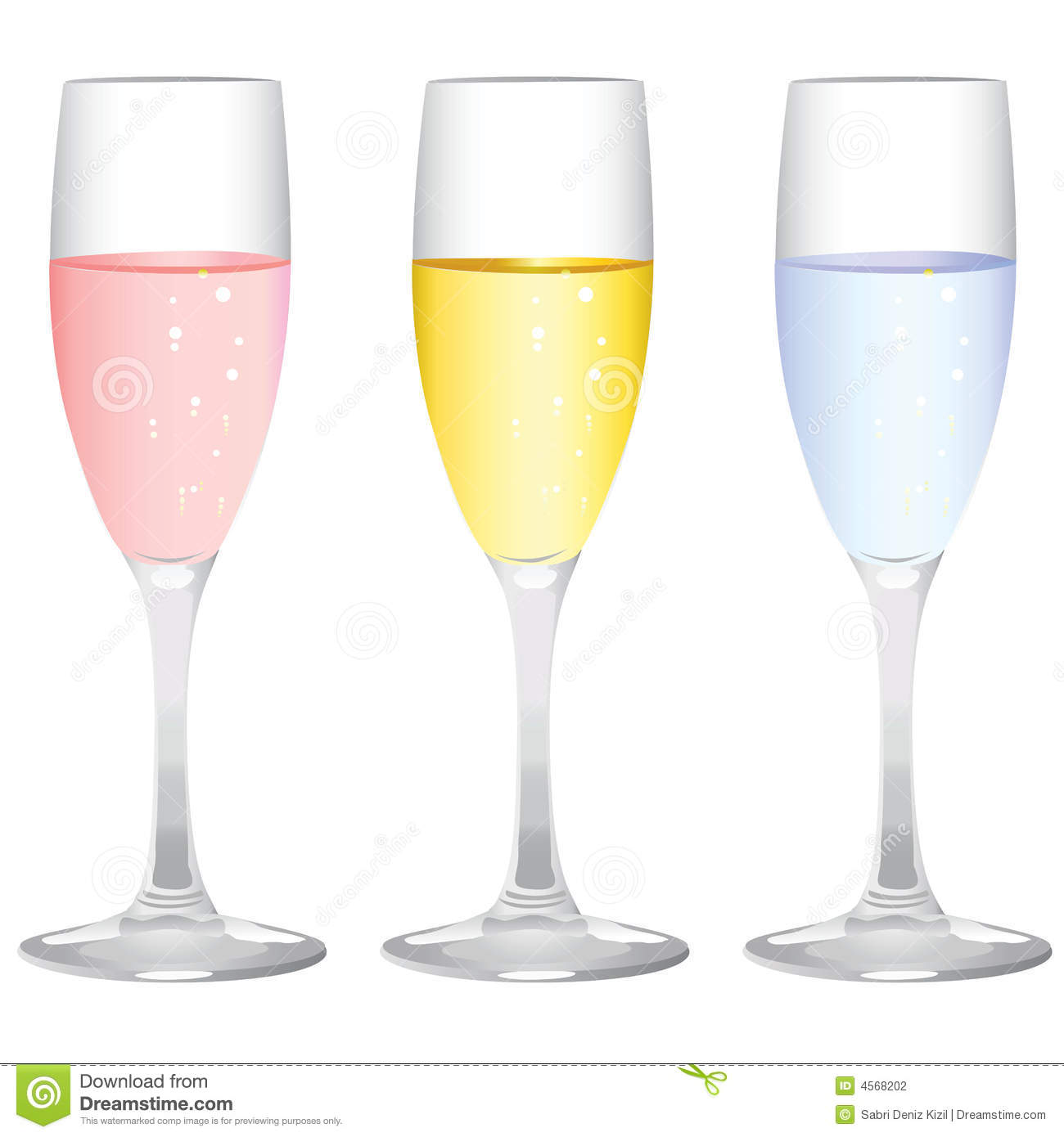 Champagne Glass Vector Stock Photography  Image 4568202