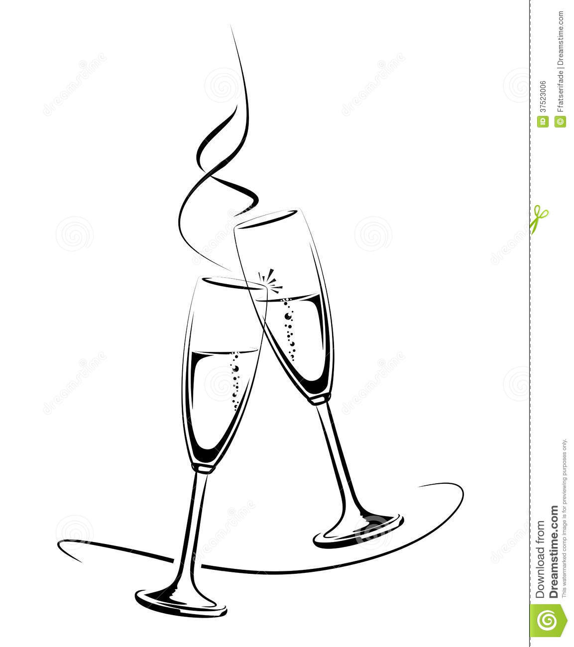 Champagne Glasses Stock Photo Image Of Festive Template