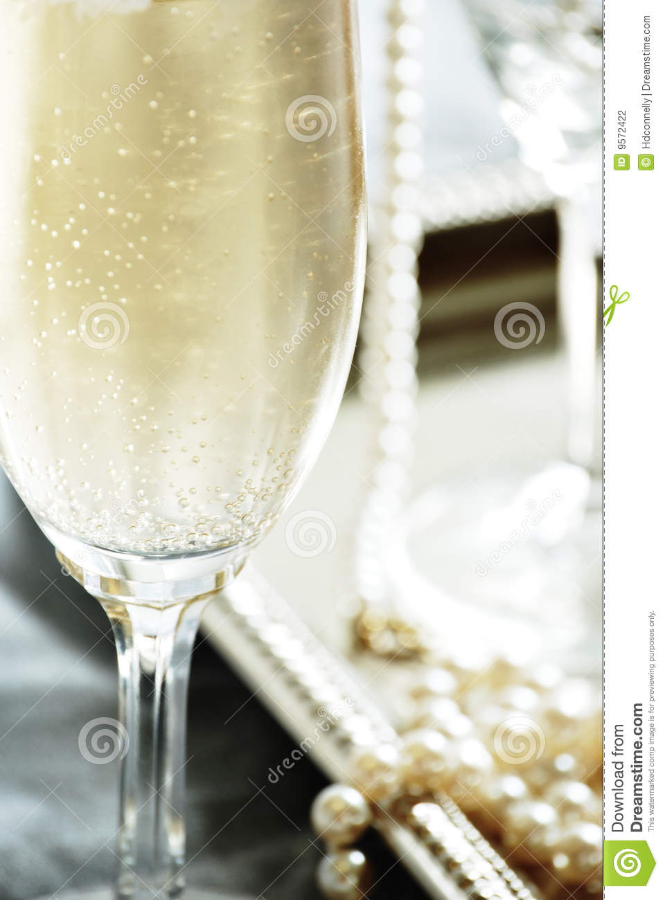 Champagne And Pearls Stock Photography Image 9572422