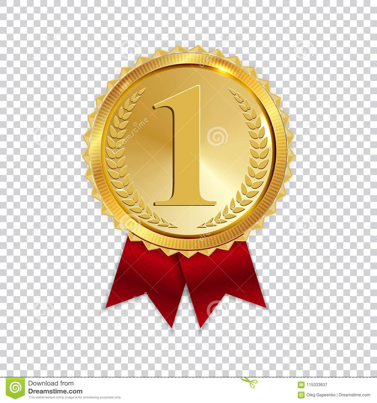hight resolution of champion art golden medal with red ribbon l icon sign first place isolated on transparent background