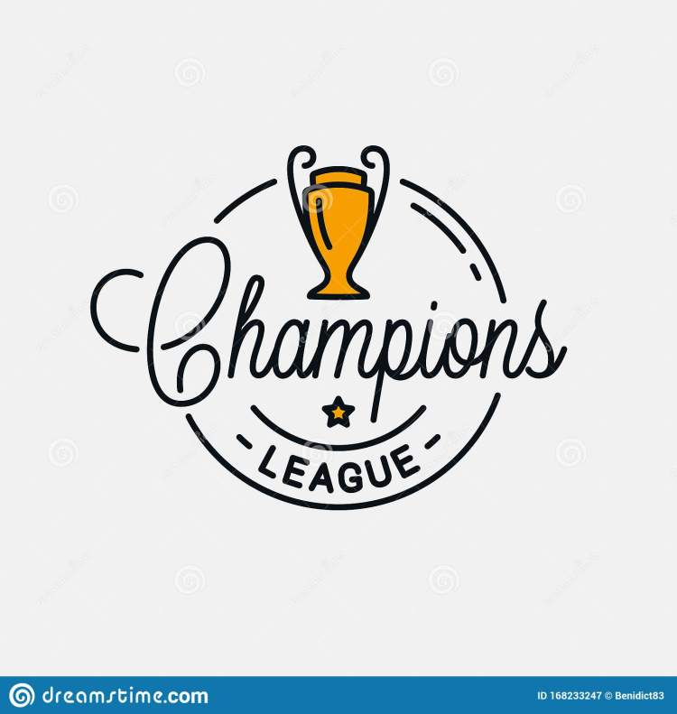 Champions League Logo. Round Linear Of Champions Stock ...