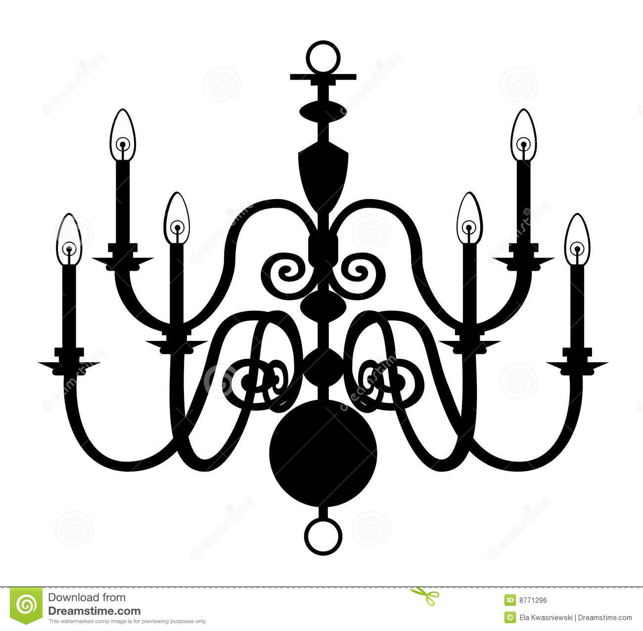 Chandelier Isolated On The White Royalty Free Stock Image
