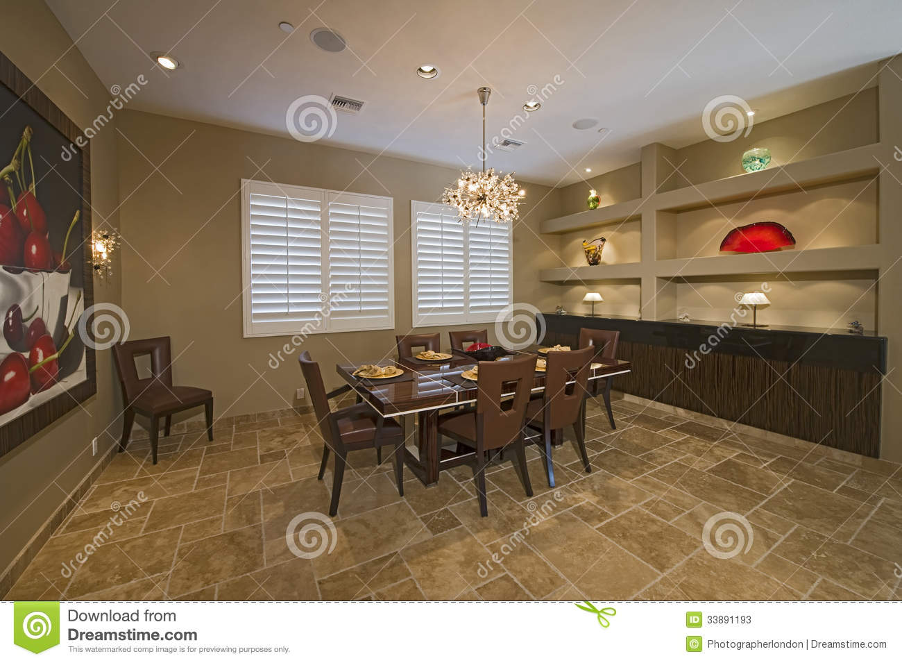 Chandelier Over Dining Table Stock Photos Image 33891193