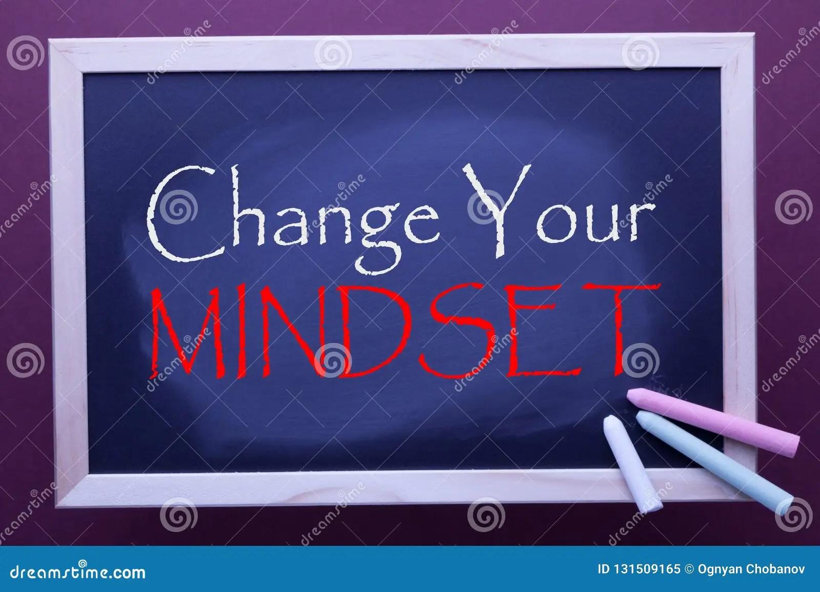 Change Your Mindset Stock Image Image Of Motivation