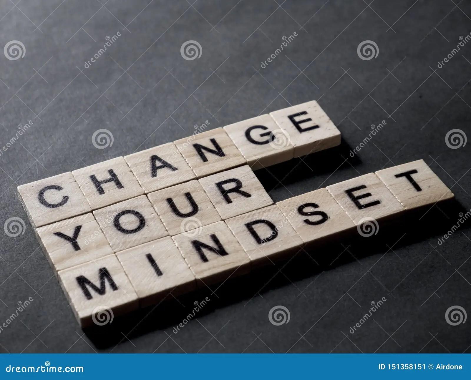 Change Your Mindset Motivational Words Quotes Concept