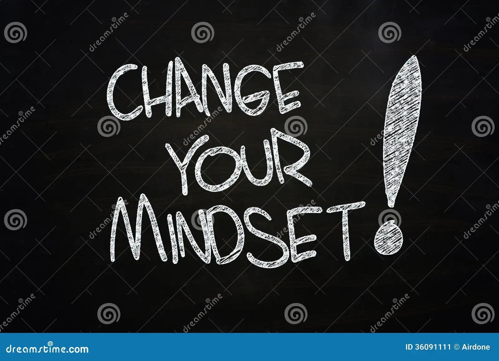 Change Your Mindset Stock Illustration Image Of Chalk