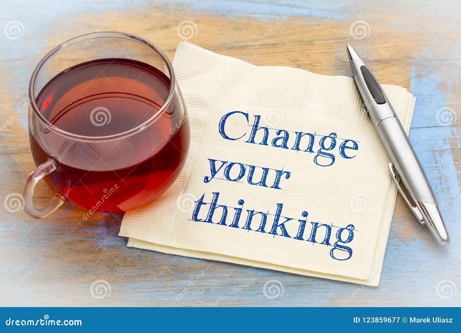 Change Your Thinking Advice Stock Image