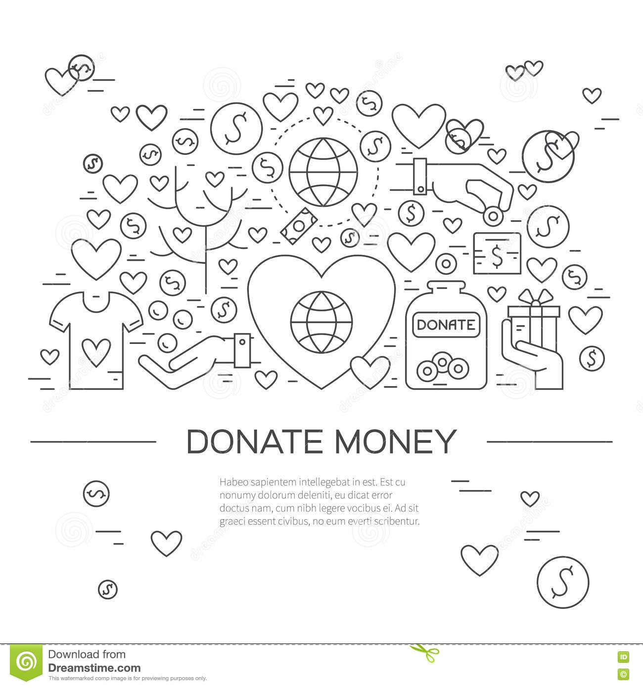 Charity Banner stock vector. Illustration of flyer, banner