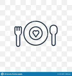 Charity Food Vector Icon Isolated On Transparent Background Lin Stock Vector Illustration of social human: 130110601