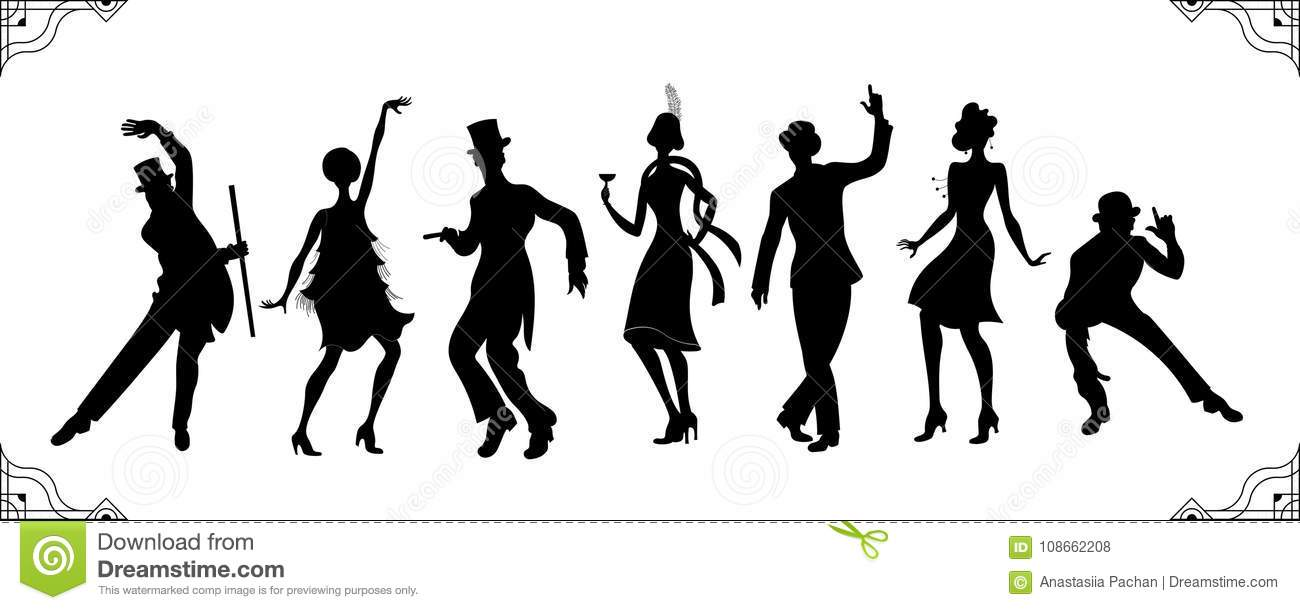 Party Silhouette Stock Illustrations