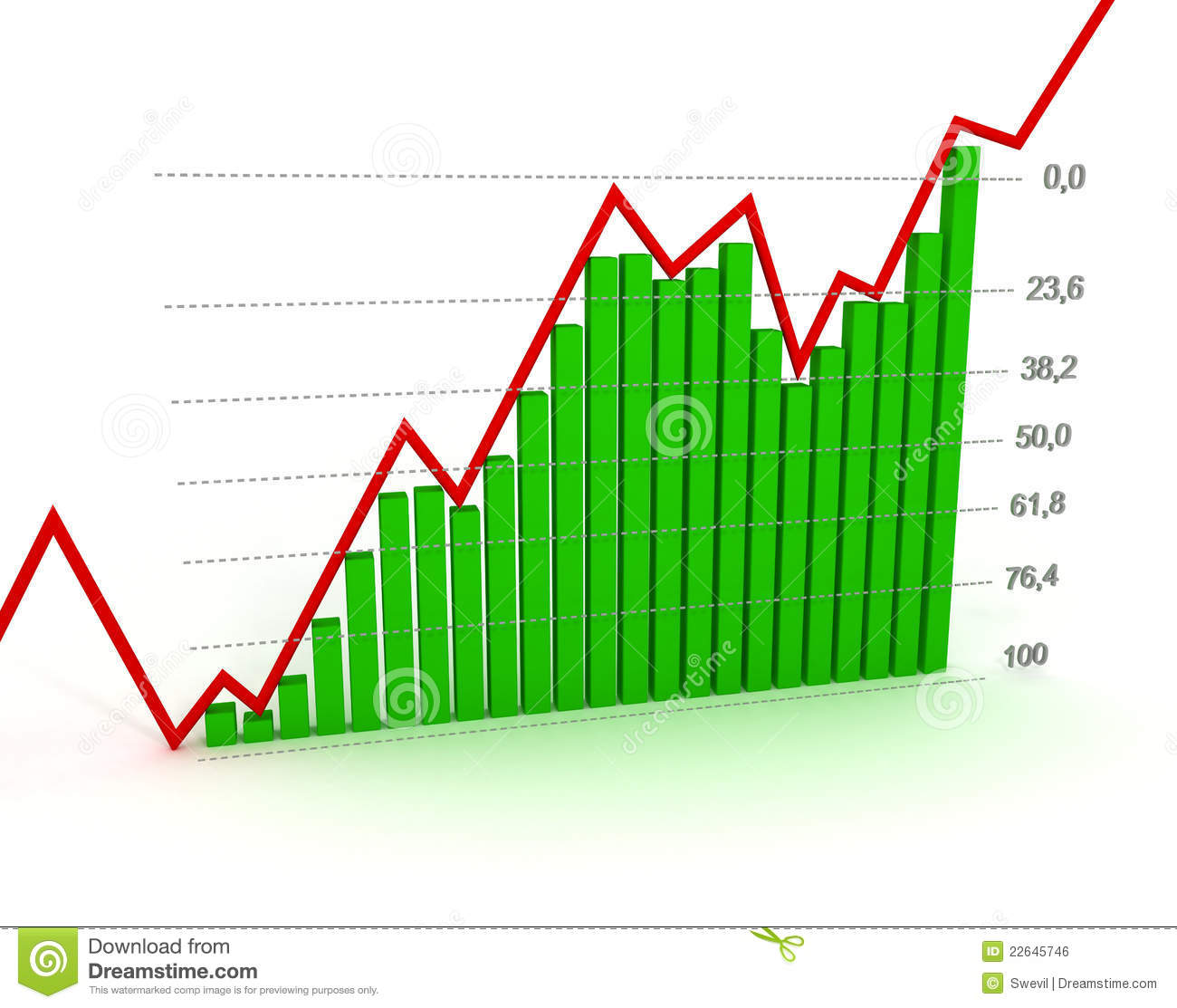 Chart Diagram Fibonacci Number Royalty Free Stock Image