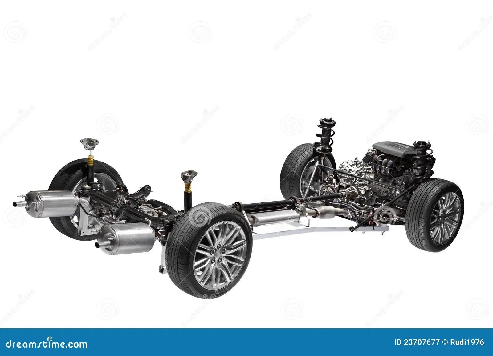 Chassi Do Carro Com Motor Imagem De Stock Imagem De Desenvolvimento