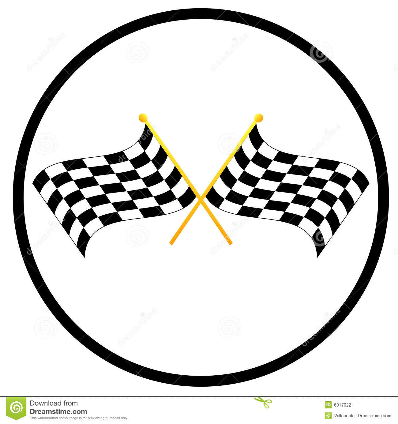 Checkered Flags Stock Vector Illustration Of Sports