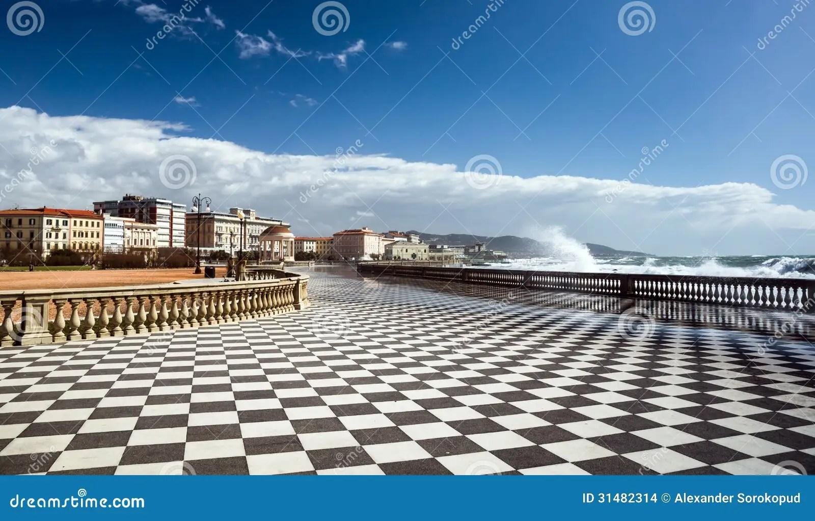 Checkered Floor In City Square Stock Photography  CartoonDealercom 31482314