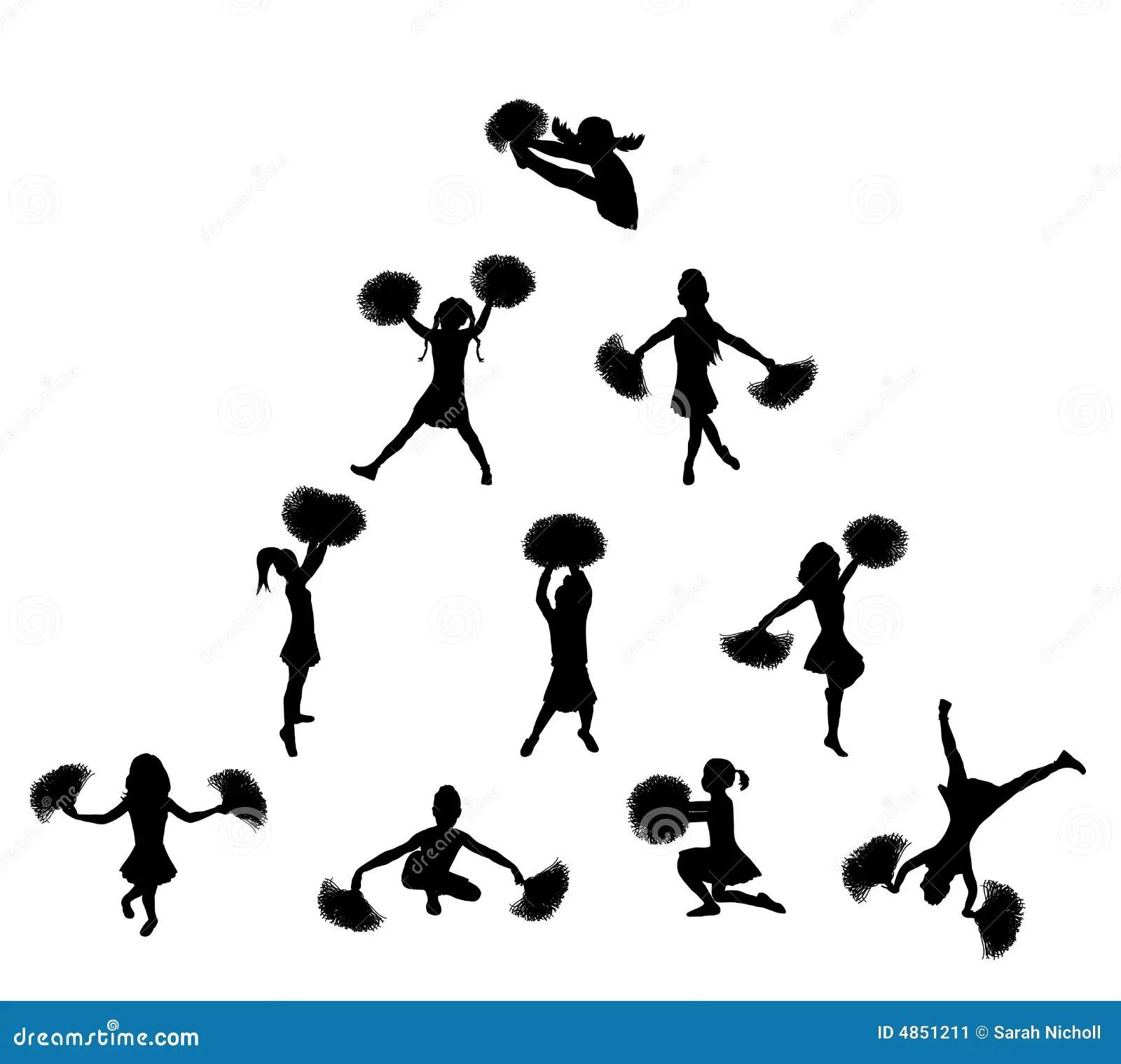 Cheerleader Pyramide 2 Stock Abbildung Illustration Von