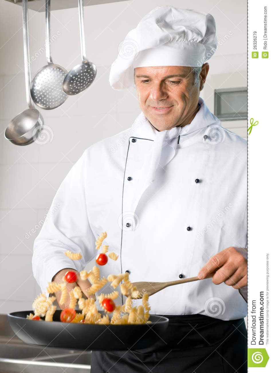 Chef cooking pasta stock image Image of person hotel