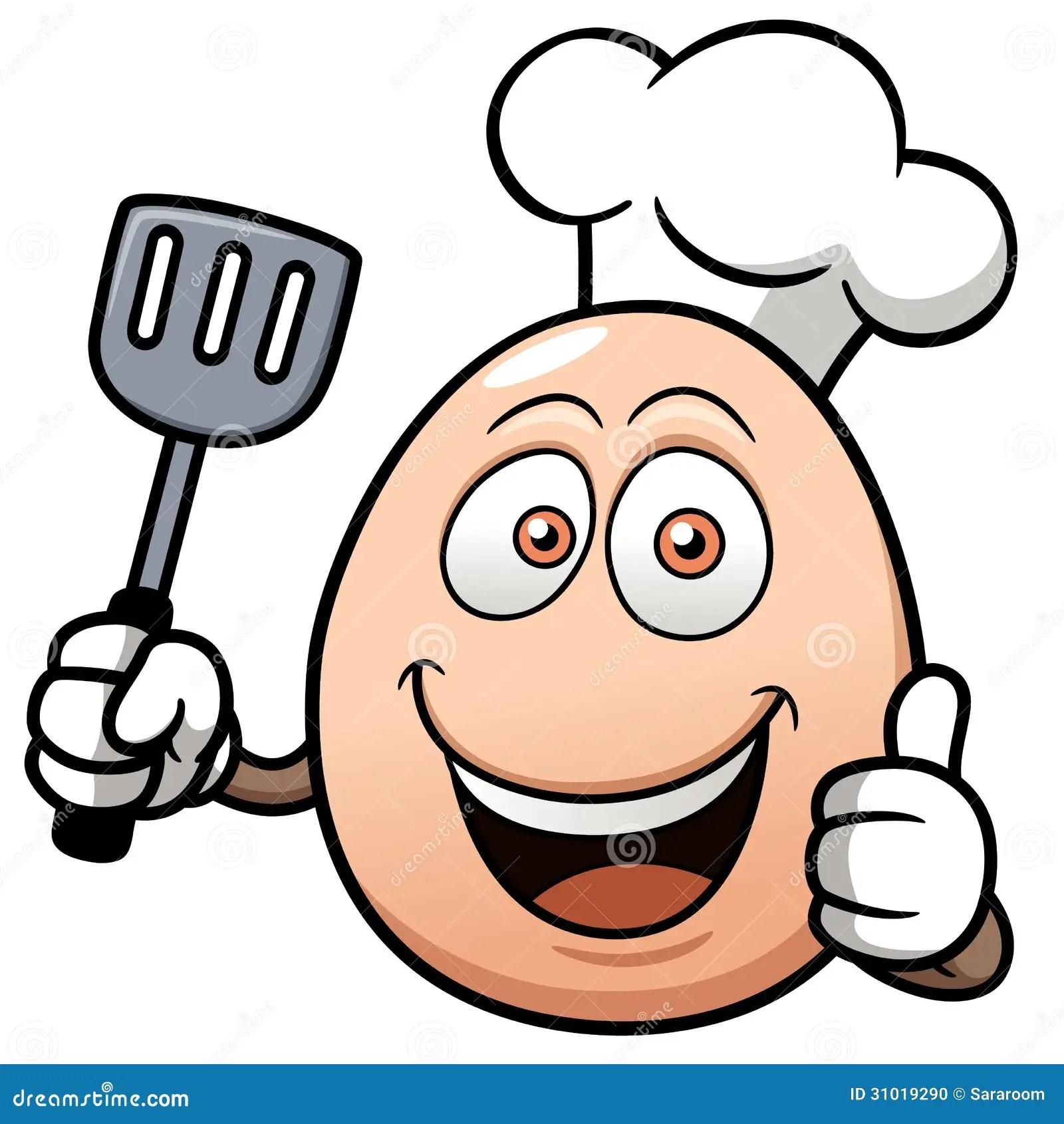 Chef egg cartoon stock vector Illustration of endorsement