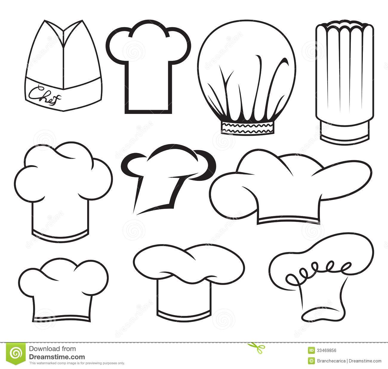 Chef Hat Collection Stock Vector Illustration Of Italian