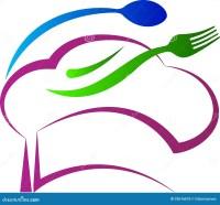 Chef hat spoon fork stock vector. Illustration of checks ...