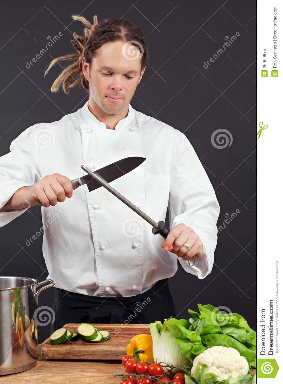 kitchen prices recessed lighting chef sharpening his knife stock image. image of male ...