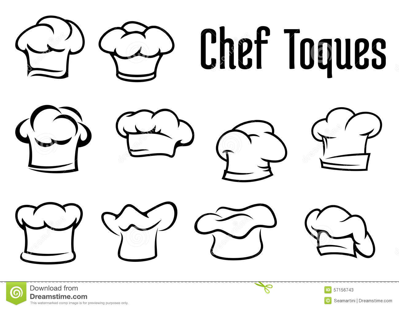 Chef Traditional Toques, Caps And Hats Stock Vector