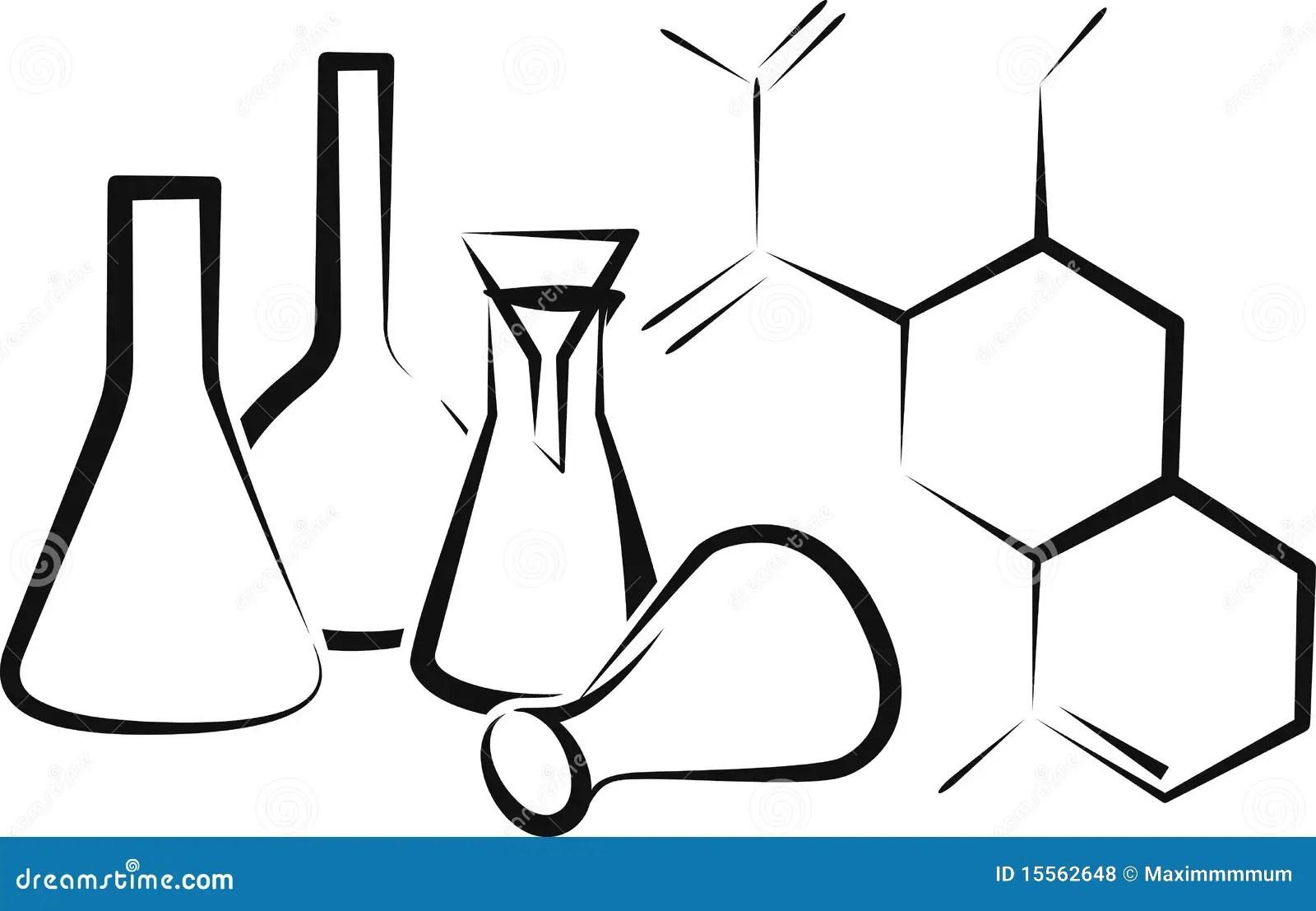 Chemical glassware stock vector. Illustration of chemical