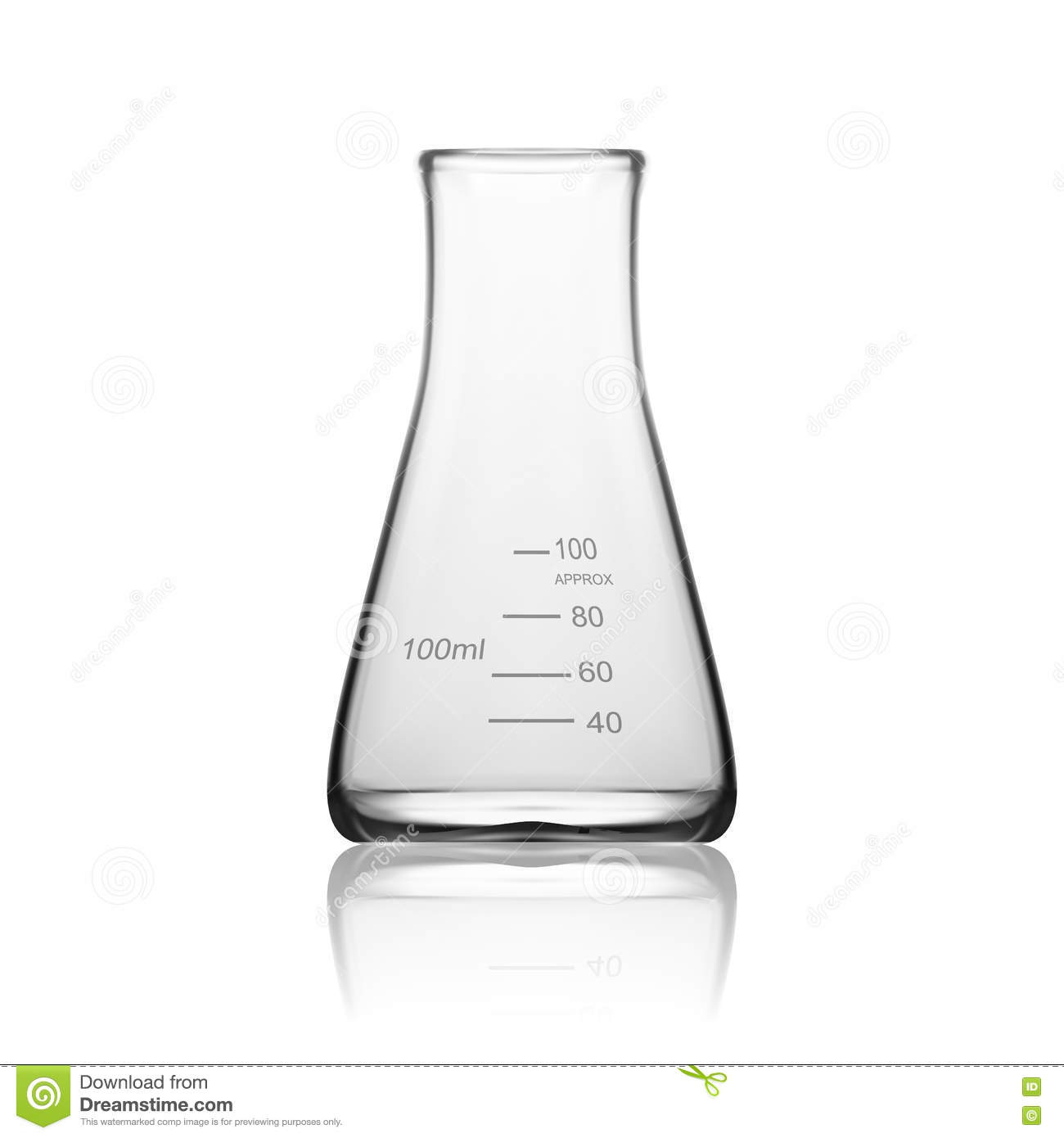 Chemical Laboratory Glassware Or Beaker Glass Equipment Empty Clear Test Tube Stock Image