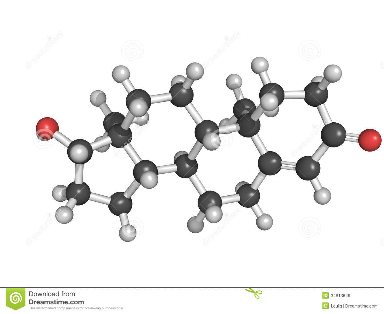 Chemical Structure Of Testosterone Royalty Free Stock